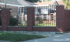 Skip the fence posts and mount your aluminum fence directly to brick 34 awesome wrought iron and brick fence designs images workwithnaturefo