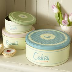 Kitchen cake tins from livelaughlove - encouraging more baking!!