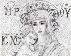 Το θαύμα μιάς μικρής ασπρόμαυρης εικονίτσας! Orthodox Icons, Mother Mary, Religious Art, Virgin Mary, Christian Faith, Holy Spirit, Gods Love, Madonna, Christianity