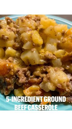 Ground Beef Dishes, Ground Beef Recipes, Sunday Recipes, Dinner Recipes, Casserole Dishes, Casserole Recipes, Meatloaf Glaze, 5 Ingredient Recipes, How To Cook Beef