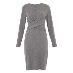 Millie Pinstripe Jersey Dress, in Grey/Multi on Whistles