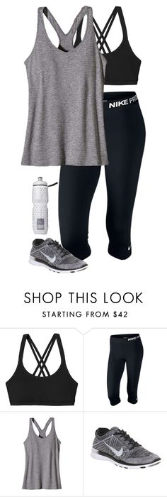 """""""workout outfit"""" by lilypackard ❤ liked on Polyvore featuring Patagonia, NIKE and Victoria's Secret"""