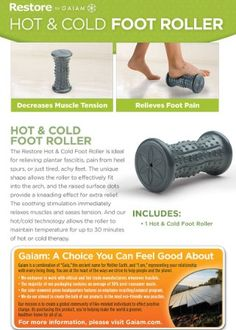 Gaiam Restore Foot Massage For Plantar Fasciitis Massage Roller, Foot Massage, Cold Feet, Muscle Tension, Foot Pain Relief, Plantar Fasciitis, Just Tired, Foot Reflexology, Just Run
