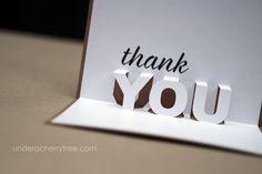 {free downloads} Jin's Pop-up Thank You cards | Under A Cherry Tree | Bloglovin'