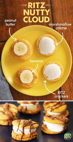 Peanut butter and marshmallow is a classic snack for the whole family! These RITZ cracker Nutty Cloud treats bring things to the next level. Spread peanut butter on crackers and top with a banana slice. On another cracker, spread marshmallow creme and form a sandwich. Drizzle melted chocolate to complete this simple and sweet recipe.