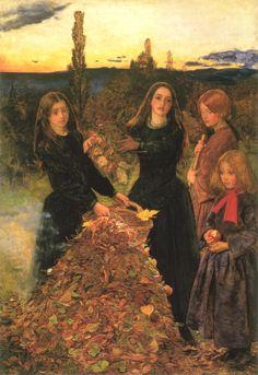Джон Эверетт Милле «Осенние листья»  John Everett Millais 'Autumn Leaves'