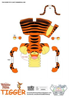 776 tigrou template Tigrou   Disney