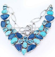 I love your dark and your light blue (Opal and Blue Topaz from India)
