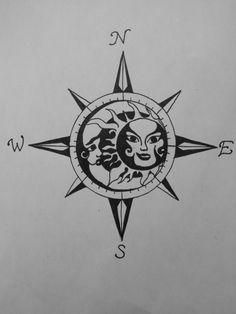 tattoo compass sun - Google Search