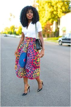 Hello Beautiful ladies, today we re presenting you the Top lovely Ankara midi skirt which you will love to add to your wardrobe. A midi skirt is one t Skirt Fashion, Fashion Dresses, Woman Dresses, Jean Shirt Outfits, Aso Ebi Dresses, Beautiful Ankara Styles, Nude Outfits, Ankara Skirt, Ankara Fabric