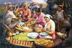 Painting by Jose Blanco, a Filipino Artist. Years ago I was at the Blanco Art Museum in Angono on a day tour. The entire Blanco family (down to the grandchildren) paints. Filipino Art, Filipino Culture, Artists Like, Various Artists, Local Artists, Philippine Art, Philippines Culture, Artist Painting, Beautiful Paintings