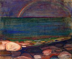 Edvard Munch (Norwegian, 1863-1944), The Rainbow, 1898. Oil on cardboard, 65.5 x 78cm. Munch Museet, Oslo.