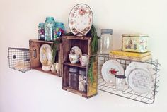 I love this grouping.   Other than the locker baskets...I think I have all the other pieces...or similar.