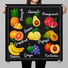 Chalkboard Kitchen-Food-Fresh by TimelessMemoryPrints on Etsy
