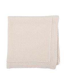 Z1NWC Bonpoint Cashmere Crochet Blanket, White