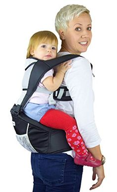 654d11441f5 Baby Carrier Hip Seat Sling by Nimnyk Best Safe Backpack Carriers Back Pain  Support (Pearl