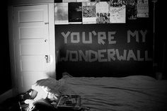 awesome, bedroom, bedroom wall, black and white, cool - image ...
