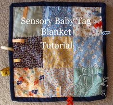 My Little Gems: Sensory Baby Tag Blanket {Tutorial}