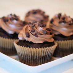 Cupcakes Esponjosos de Chocolate