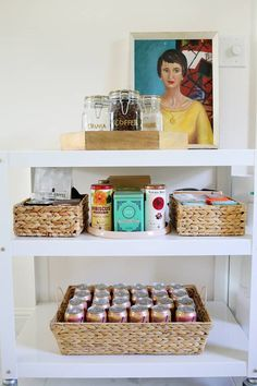 organized kitchen cart