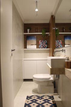 Lavabo ampliado e bem aproveitado! Cajuí Design de Interiores