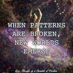 ...patterns are broken....