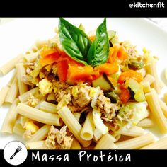 Protein pasta  #35%protein #past #egg #carbohydrate #gym #healthy #gosuper #noexcuses #projetokitchenfit #nutripro #delicious #tuna #pumpkin #sweetbasil #courgette #amazing    #madewithstudio