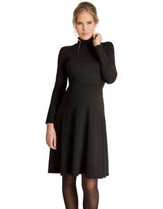 Robe de grossesse col roulé Vanessa - Noir