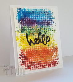 Happy Little Stampers, Kylie Purtell, Brusho and Stencil Background, Brusho, Watercolour