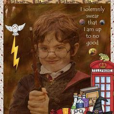 "Wizarding scrapbook pages created with the ""Wizardry"" digital scrapbooking kit from Kate Hadfield Designs – fun ideas for Harry Potter scrapbook pages! Layout created by Creative Team member Stacey"