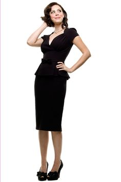Stop Staring 1940's Style Black Obsession Dress
