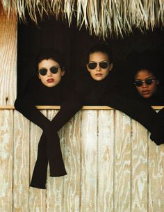 What a Dream, photographed by Walter Chin for Vogue Italia December 1993 — featuring frames similar to the Mykita Crosby at Black Optical http://blackoptical.com/products/crosby-1
