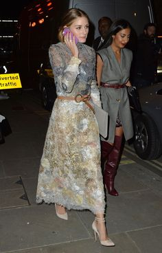 Olivia Palermo always dresses so lovely but I would have preferred a darker hued shoe...just my opinion
