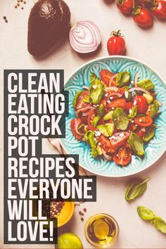 Clean eating crockpot recipes everyone will love!!    Crockpot, crock pot, crock-pot, recipes, clean eating, slow cooker meals, healthy meals, healthy dinners, healthy recipes, kid friendly recipes, toddler approved meals, easy meals, #cleaneating #crockp