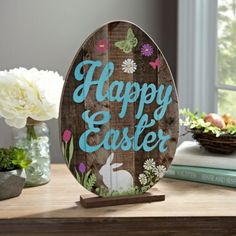 Happy Easter Egg Tabletop Sign