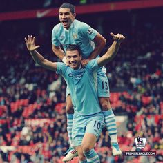 Džeko and Kolarov - Manchester City 4 x 0 Newcastle, Debut Premier League   Season 2013/14