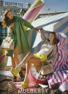 Frida Gustavsson and Lindsey Wixson for Mulberry S/S 12