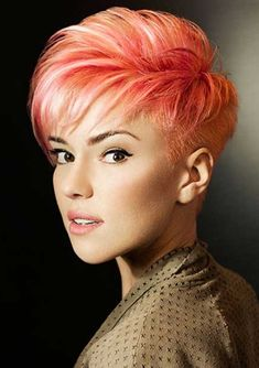 2015 Hairstyles, Pixie Hairstyles, Cool Hairstyles, Short Haircuts, Undercut Hairstyles, Hairstyle Ideas, Short Red Hair, Short Hair Cuts For Women, Kids Short Hair