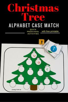 Do you have any alphabet stamps on hand? If so, this colorful quick and easy Christmas tree alphabet stamping activity is just perfect!