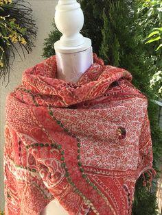 Winterwollschal aus dem Tibet in Rot sFr. 72.-- Tibet, Fashion, Headscarves, Red, Moda, Fasion