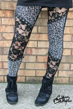 Lock & Lace Leggings by CustomCatastrophes on Etsy