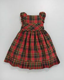 Ralph Lauren Childrens wear Tartan Pleated Taffeta Dress    395.00