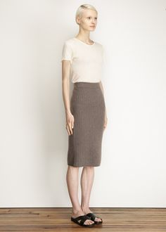 The Row Anneli Skirt (Truffle)