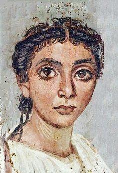 Encaustic portrait for mummy, 2nd to 3rd C. AD, Fayum modifay