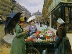 Louis Marie de Schryver (1862-1942) Marchande des Fleures
