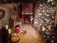 The magical Santa's Grotto at Sherwood Forest Visitor Centre, Sherwood Forest.