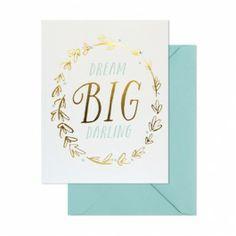 グリーティングカード専門店 |  シュガーペーパー/シングルカード/Dream big darling  | Paper Tree