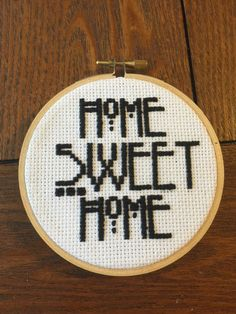 AHS Home Sweet Home Cross Stitch by StitchesBySelina on Etsy
