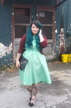 Mint and Cranberry - #6pmLove - KaelahBee.com #outfit #whatiwore #ootd