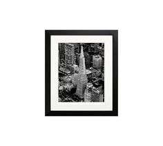 "New York Times Archive Framed Photography, San Francisco Aerial, 12 x 14"", Black"